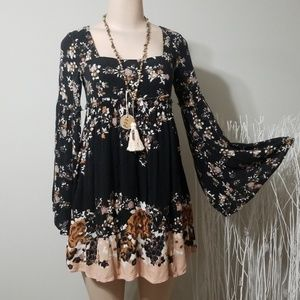 FREE PEOPLE FLORAL PATTERN LONG TOP/MINI DRESS!